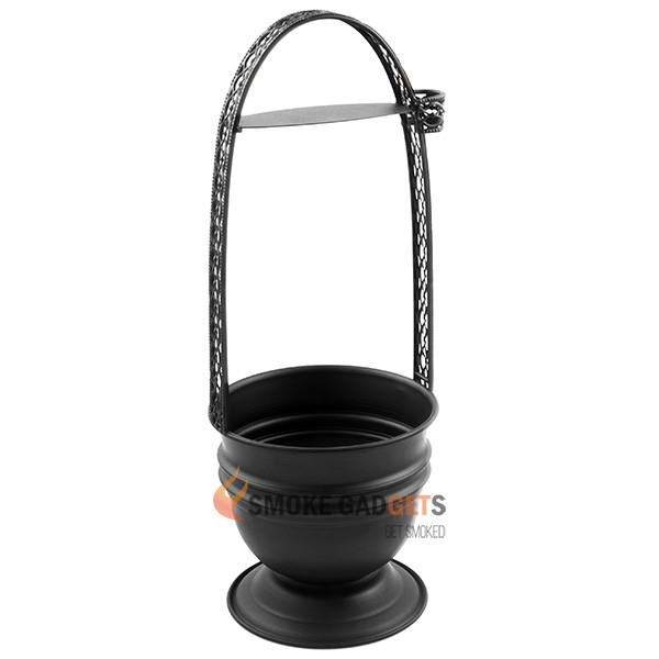 Корзина для угля, черная, большая