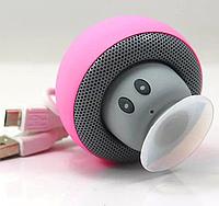 Колонка  Bluetooth блютус портативная BT-280 грибок розовый.