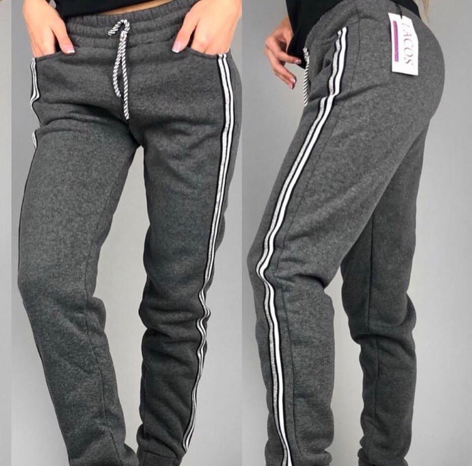 f420c8310 Женские штаны на флисе, ткань: трехнить на флисе цвет: ( серый ) р-р ...