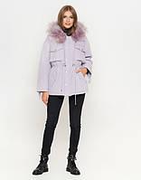 Женская куртка зимняя светло-фиолетовая  (  L  XL)