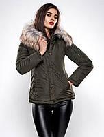 Короткая женская куртка на зиму