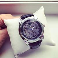 Часы механические Rolex A86 115839 скелетон мужские с автоподзаводом серебристые с черным