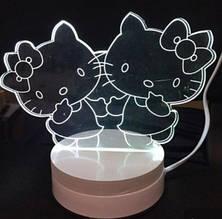 Светильник 3D (ночник) Китти