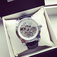 Часы механические Rolex A86 115840 скелетон мужские с автоподзаводом серебристые с белым циферблатом