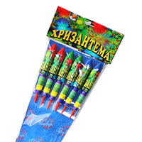 Набор ракет Хризантема (RK-1), в упаковке: 6 штук, калибр: 25 мм