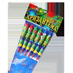 Набір ракет Хризантема (RK-1), в упаковці: 6 штук, калібр: 25 мм