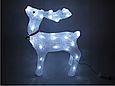 Новогодняя акриловая статуя олень RENIFER, Светящиеся новогодние олени 24 led, фото 4