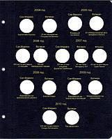 Листы для юбилейных монет 2 евро стран Сан-Марино,Ватикан, Монако и Андорры