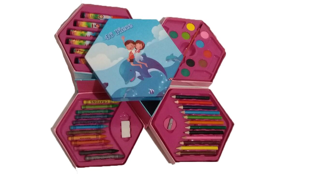 """Набор для рисования 46 предметов """"Дети на дельфине"""""""
