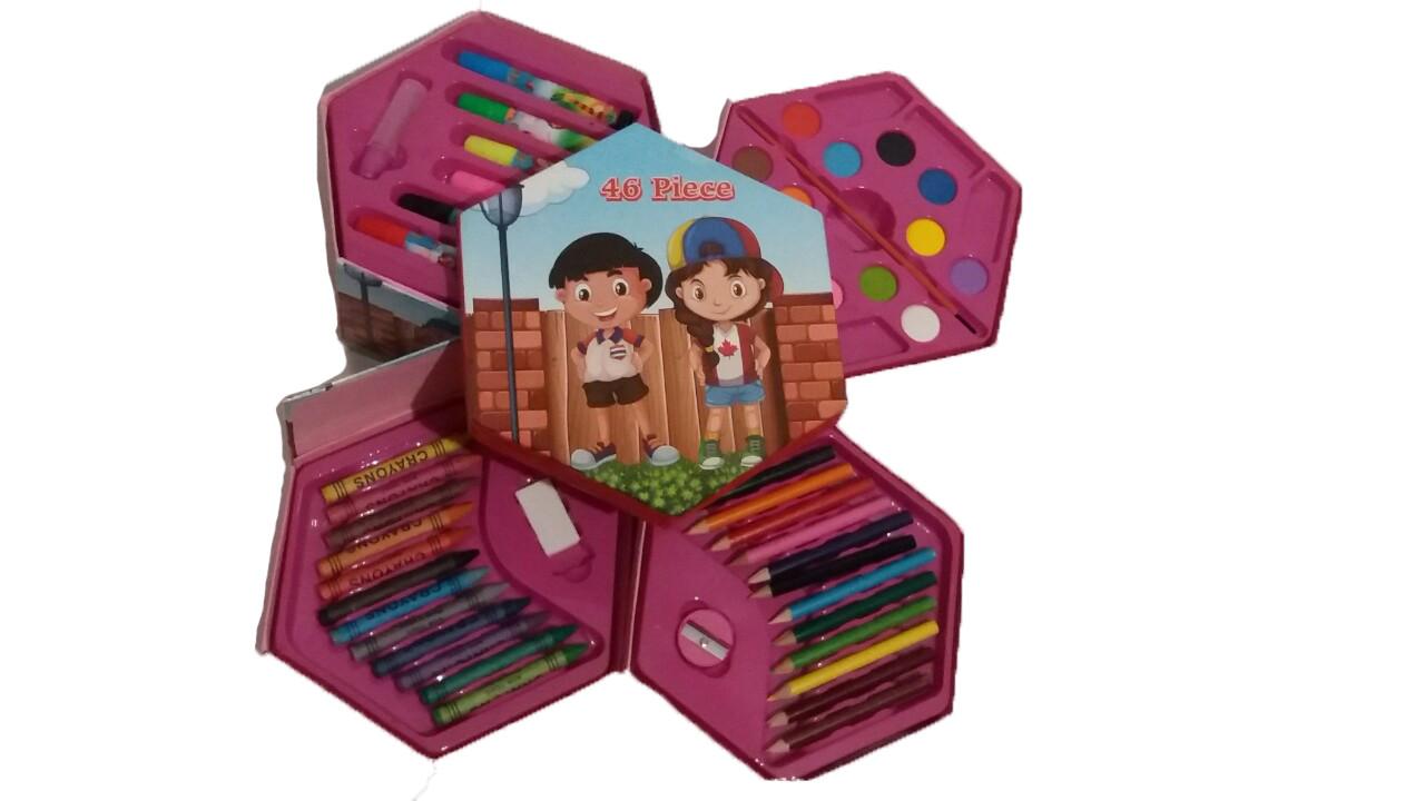 """Набор для рисования 46 предметов  """"Дети"""""""