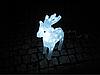Новогодняя акриловая статуя олененок смотрит вперед, Светящиеся новогодние олени 40LED, фото 4