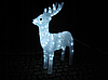 Новогодняя акриловая статуя олень средний, Светящиеся новогодние олени 120 LED, фото 4