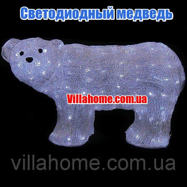 Фигура медведя для Нового года. Длина 59 см