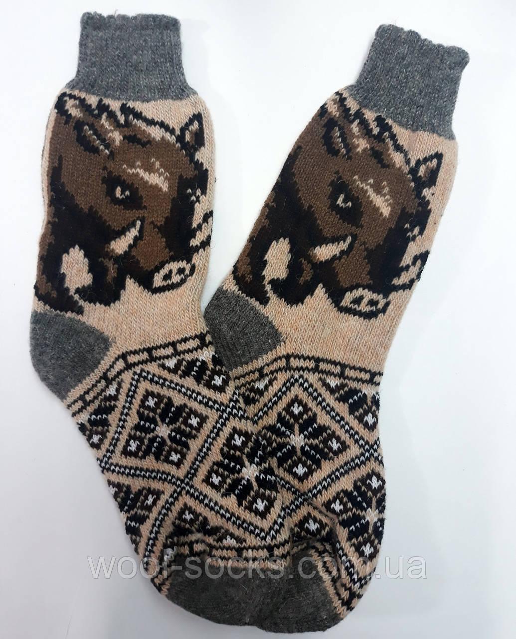 Вязаный носок