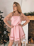 Женское платье сетка с бархатным напылением (5 цветов), фото 9