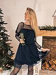 Женское платье сетка с бархатным напылением (5 цветов), фото 8