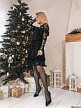 Женское платье сетка с бархатным напылением (5 цветов), фото 10