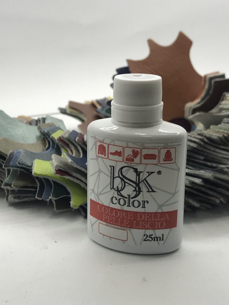 """Краска для гладкой кожи  """"bsk-color"""" 25ml серая-платина №018"""