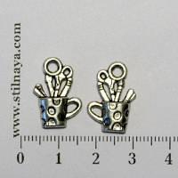 Стильная Штучка Подвеска Кружка с канцелярскими принадлежностями, тибетское серебро