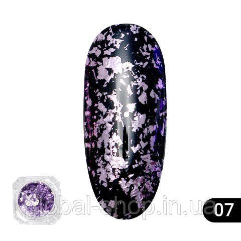 Втирка для ногтей Global Fashion color foil,12 цветов