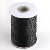 Стильная Штучка Шнур для браслетов Шамбала, полиэстровый черный, 1,2мм, 1 метр