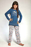 103-18 Пижама для девочек подростков 89 Good Morning Cornette сине-розовый  (134 078da0946a8e1