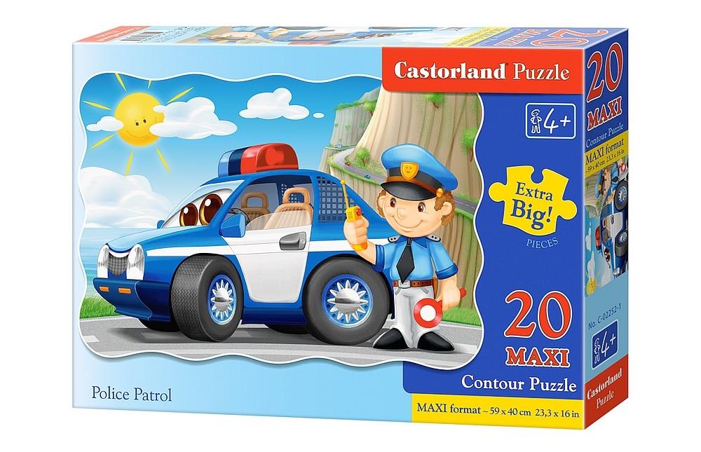 """Пазлы Castorland C-02252 """"Полицейский патруль"""" 20 элементов (C-02252)"""