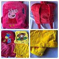 Плед игрушка подушка рюкзак Пеппа Peppa подарок для детей 3 в 1, фото 1