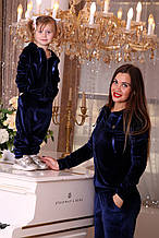 Женский спортивный костюм велюровый, детский велюровый костюм family look