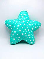 Подушкаигрушка ручной работы Звезда Nikolo Valens Зеленый, КОД: 120964