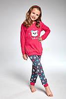 978-18 Пижама для девочек подростков 103 Owl Cornette розово-графитовый  (134- f5b36d17eea63