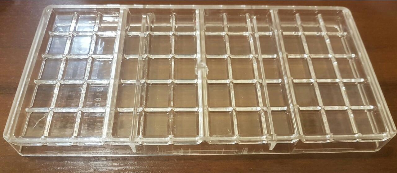 Форма для конфет поликарбонатная Плитки шоколада