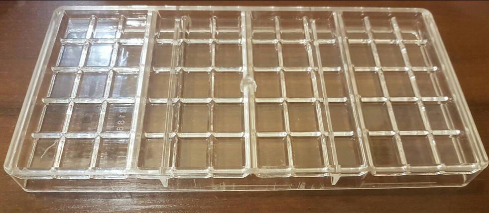 Форма для конфет поликарбонатная Плитки шоколада, фото 2