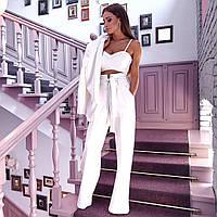 Женский стильный костюм: пиджак, топ и брюки (4 цвета), фото 1