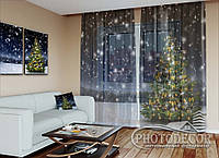 """Новогодний ФотоТюль """"Новогодняя елка 1"""" (2,5м*2,0м, карниз 1,5м)"""