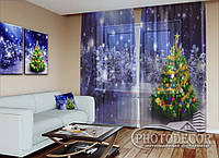 """Новогодний ФотоТюль """"Новогодняя елка в лесу"""""""