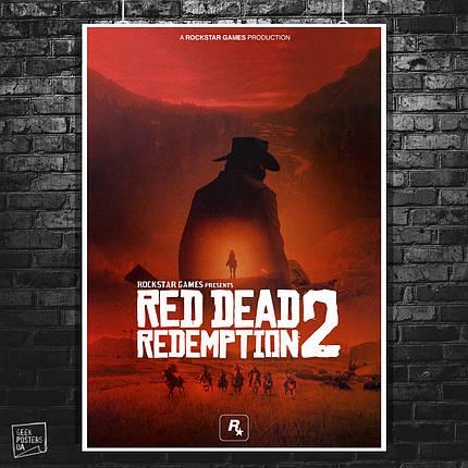 Постер Red Dead Redemption 2, RDR 2. Размер 60x42см (A2). Глянцевая бумага, фото 2