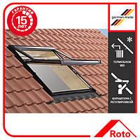 Окно мансардное Roto Designo зі шторкою акційне WDF R78 H N WD AL 11/11