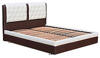 Кровать Garniturplus Скарлет коричневобелая 160х200 см, КОД: 182452