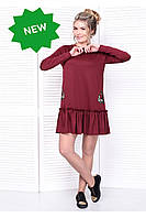 Donna-M Платье бордовое SO-13311-BOR , фото 1
