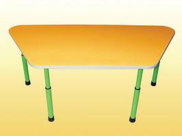 Дитячий стіл трапеція регульований 1100х520х460-580 мм