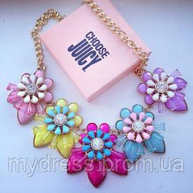 Колье Juicy Couture ( конфетные цветы) LUX качество