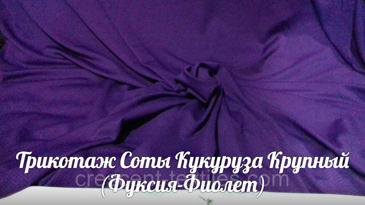Кукуруза Трикотаж Соты Крупная (Фиолет)