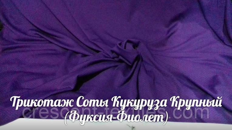 Кукуруза Трикотаж Соты Крупная (Фиолет), фото 2