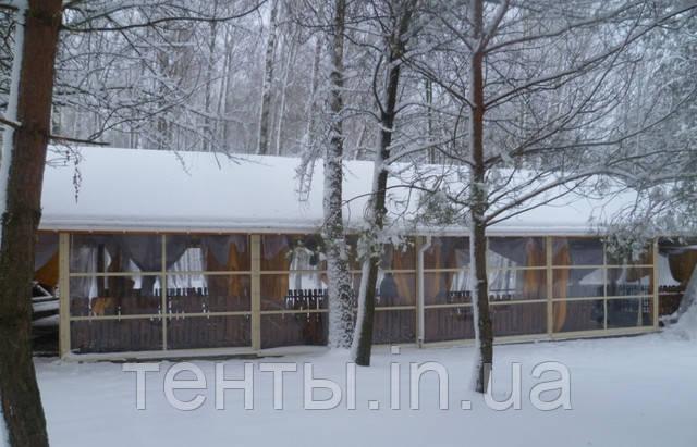 Утепление террасы шторами ПВХ зимой