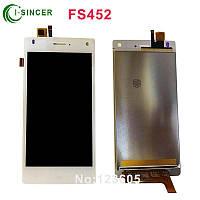 Дисплей (LCD) Fly FS452 + сенсор белый
