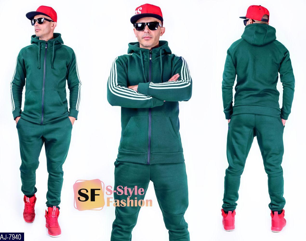 Мужской спортивный костюм Утепленный Размер: L, M, XL, XXL