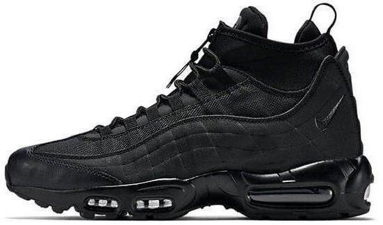Мужские зимние кроссовки Nike Air Max 95 Sneakerboot 'Black' (Найк) черные
