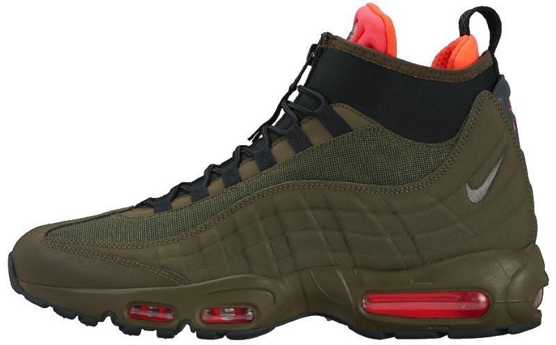 Мужские зимние кроссовки Nike Air Max 95 Sneakerboot 'Green' (Найк) зеленые