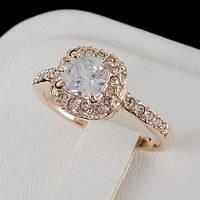 Головокружительное кольцо с кристаллами Swarovski, покрытое слоями золота 0467